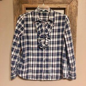 Women's Ralph Lauren Plaid Flannel Shirt XL
